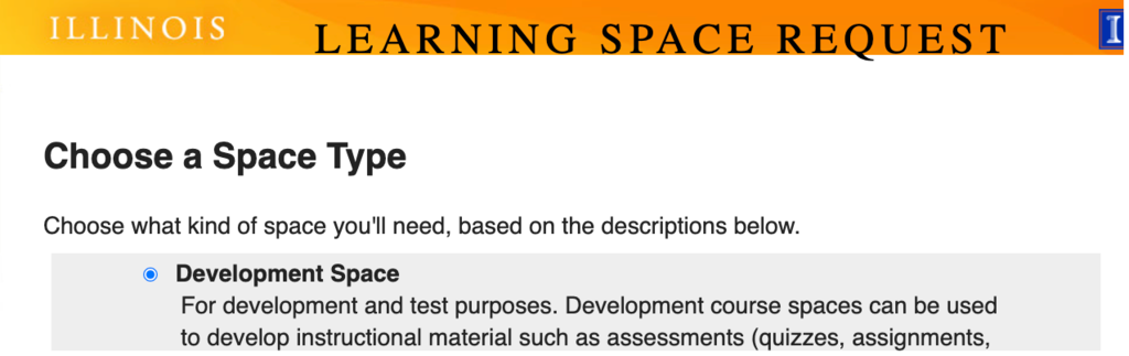 learning space request form