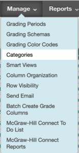 Categories menu in Compass
